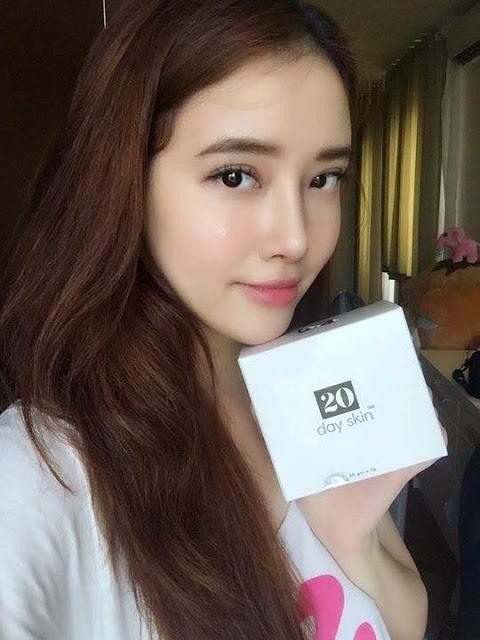 Em gái hoa hậu Mai Phương Thúy review 20 day skin