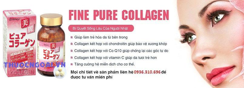 Vien uong fine pure collagen cua nhat ban